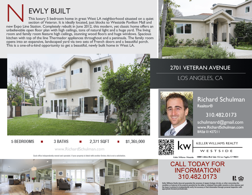 Marketing Flyer and Postcard Examples ‹ Los Angeles Real Estate ...